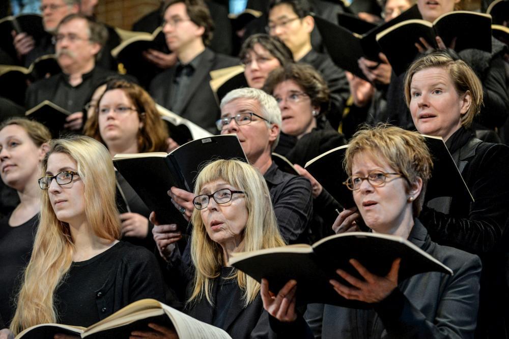 06 Konzert der Lukaspassion von Penderecki in der Marktkirche Hannover. Bild ' Jens Schulze, Landeskirche Hannovers
