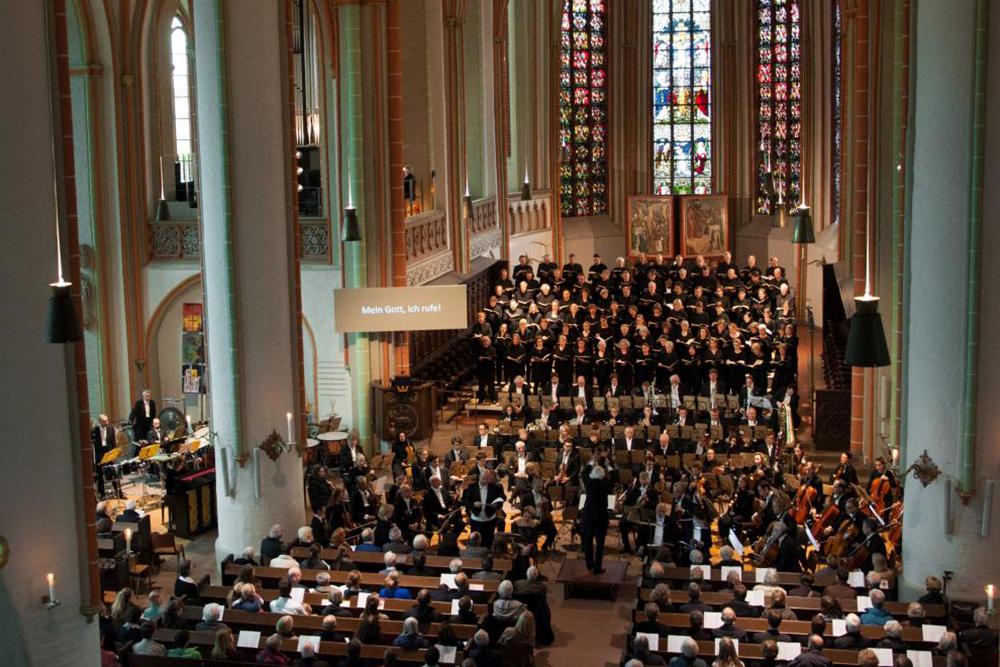 07 Konzert der Lukaspassion von Penderecki in St. Johannis Lüneburg. Bild ' Ulf Pankoke, VISION KIRCHENMUSIK