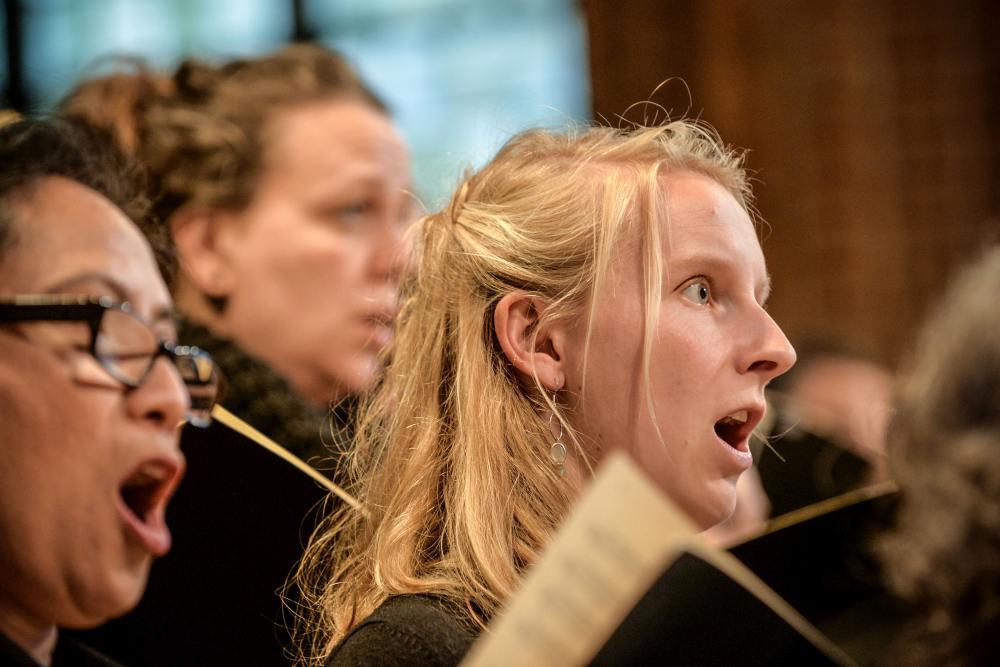 14 Konzert der Lukaspassion von Penderecki in der Marktkirche Hannover. Bild ' Jens Schulze, Landeskirche Hannovers